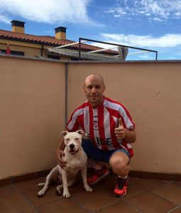 Michael Alonso McKernan. Ex-jugador del CD Lugo y aficionado al triatlón.