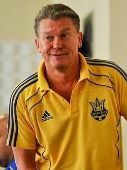 Oleg Blokhin durante su etapa como seleccionador.