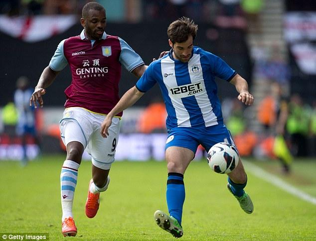 Campabadal, en el único partido que jugó con el primer equipo del Wigan | Foto: Getty.
