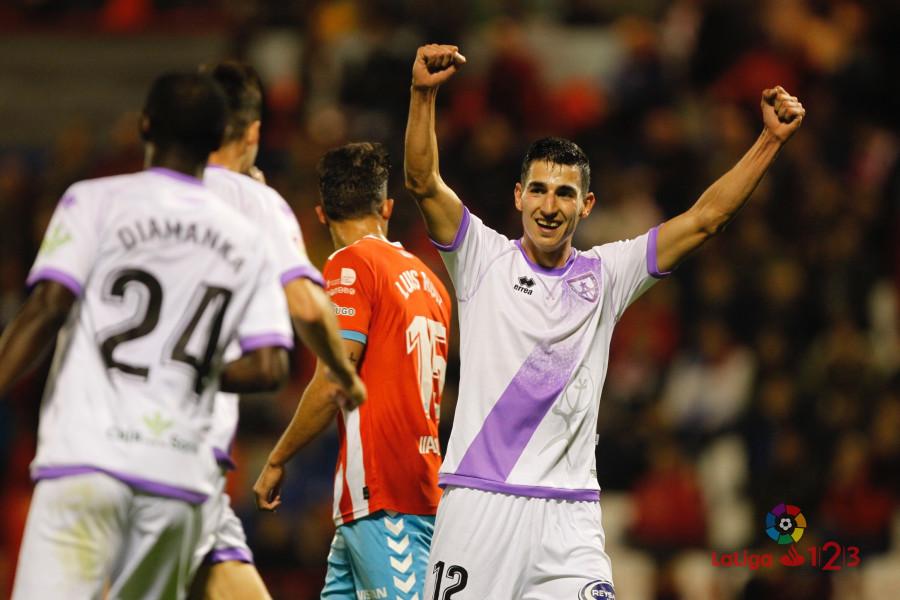Pablo Valcarce celebra el único gol conseguido   Foto: LaLiga 123.