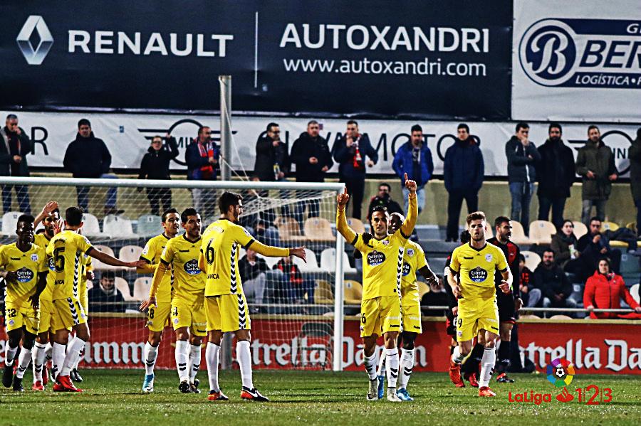 Cristian Herrera celebra un gol ante el Reus | Foto: LaLiga.