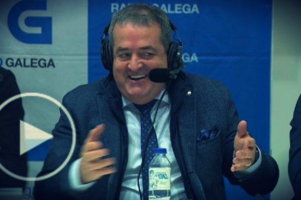 El presidente del CD Lugo, Tino Saqués, durante el programa Ao Contraataque de Radio Galega.