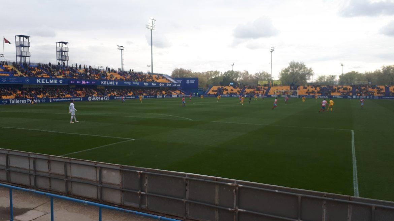 Intres previos á disputa do partido entre o Alcorcón e o Lugo en Santo Domingo.