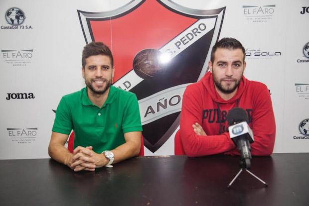 Álex Ortiz, entrenador del CD Lugo B / Polvorín, en su etapa en el UD San Pedro.
