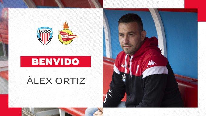 Alex Ortiz posa como nuevo entrenador del CD Lugo B