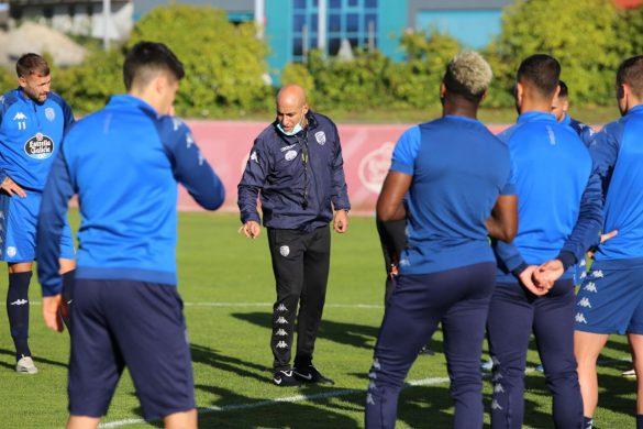 Nafti, en su primera sesión como entrenador del CD Lugo.