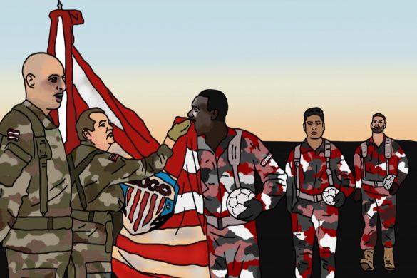 Nafti pasando revista a las tropas