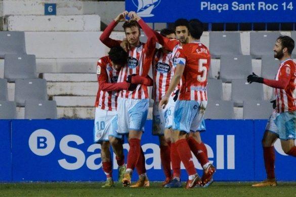 Celebración do gol de Manu Barreiro.