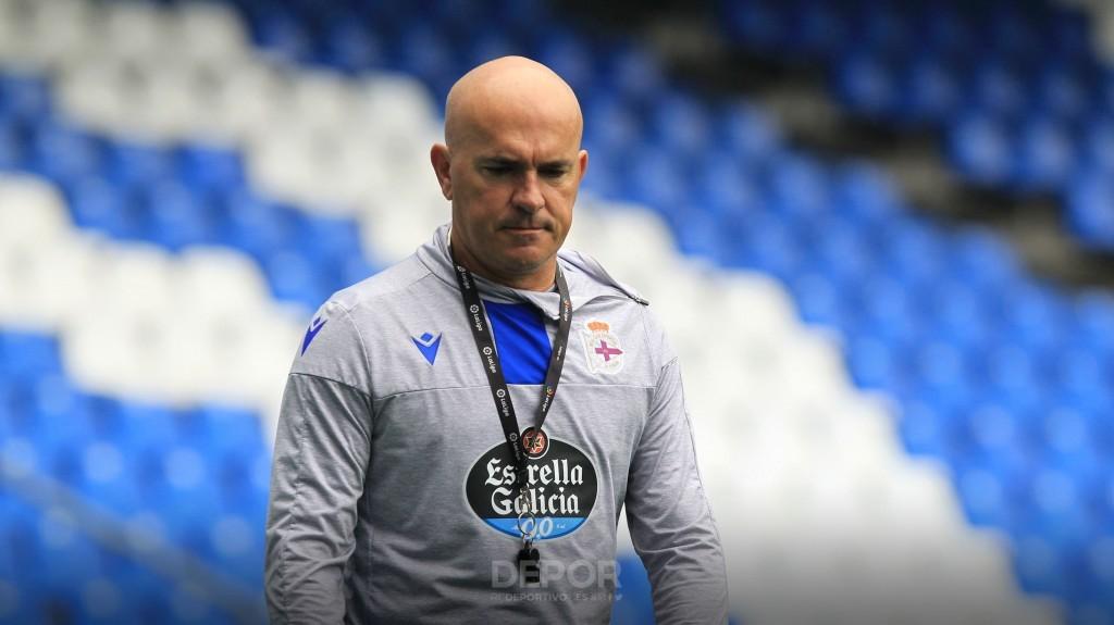 Luis César cuando entrenaba al Deportivo y no al CD Lugo.
