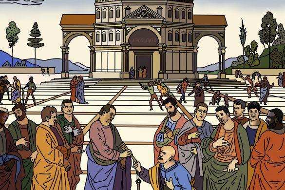 La salvación del CD Lugo pasa por la entrega de llaves a San Pedro. Ilustración de Pablo del Valle, Lugoslavia.