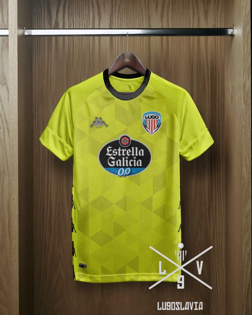 Camiseta de portero CD Lugo 2022 propuesta por Lugoslavia.