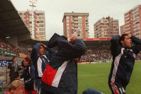 Descenso del Atlético en Oviedo