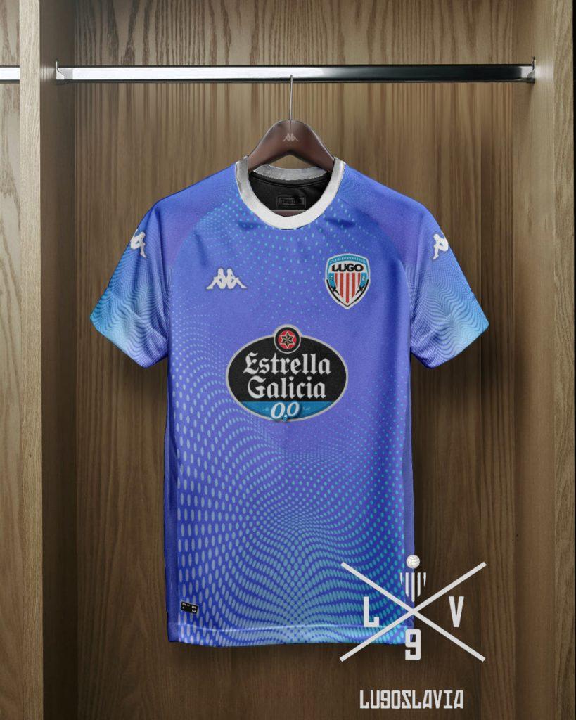 Tercera camiseta CD Lugo 2022 propuesta por Lugoslavia