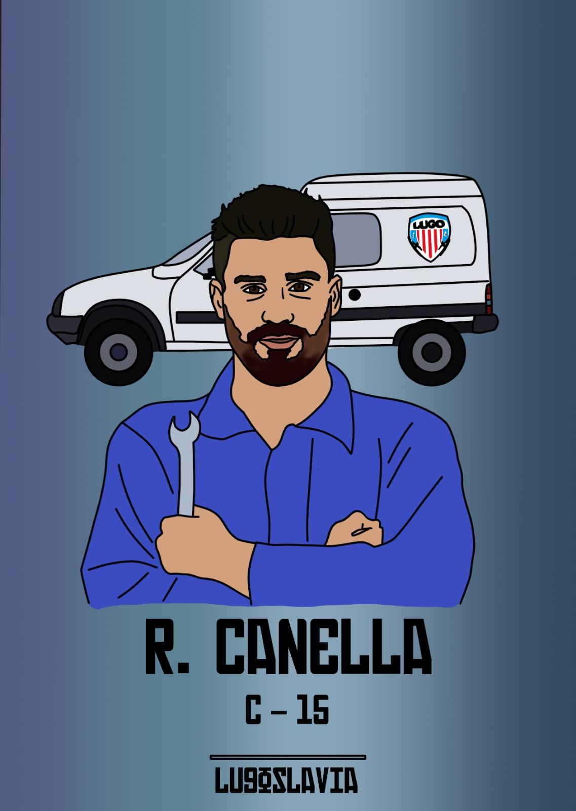 Canella CD Lugo, ilustrado por Lugoslavia, por Pablo del Valle