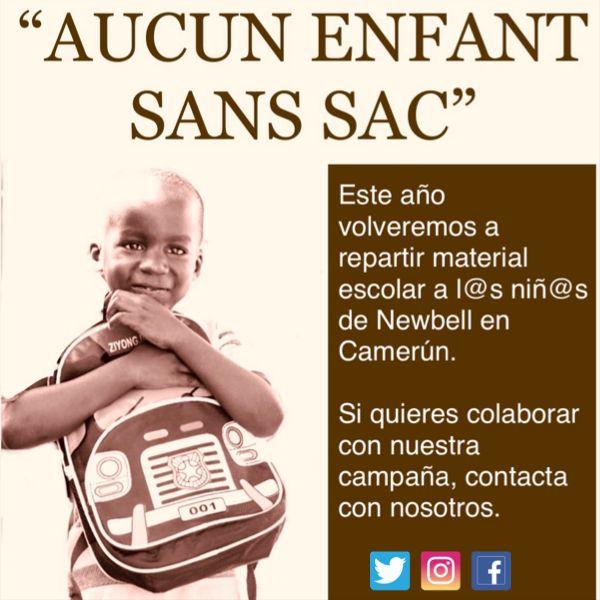 Campaña de Serge Leuko: Aucun Enfant Sans Sac