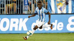Fabrice Olinga en el Málaga. Lugoslavia. Fútbol de África.